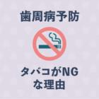 【歯科医監修】歯周病を予防するならタバコを辞めたほうがいい理由