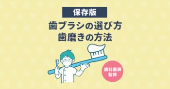 【歯医者さん監修】正しい歯ブラシの選び方と歯磨きの仕方